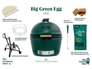 BIG GREEN EGG 2XL-SET INKL.NEST